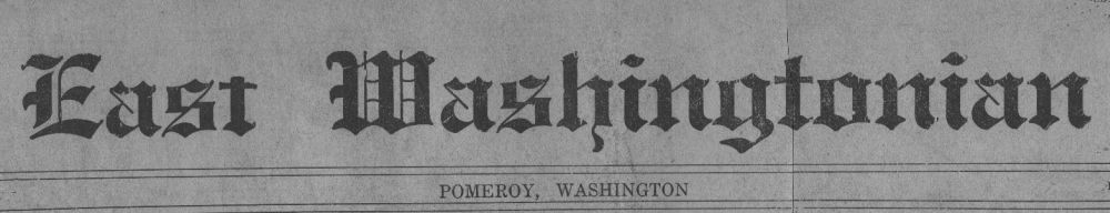 East Washington Newspaper Masthead, 1920s